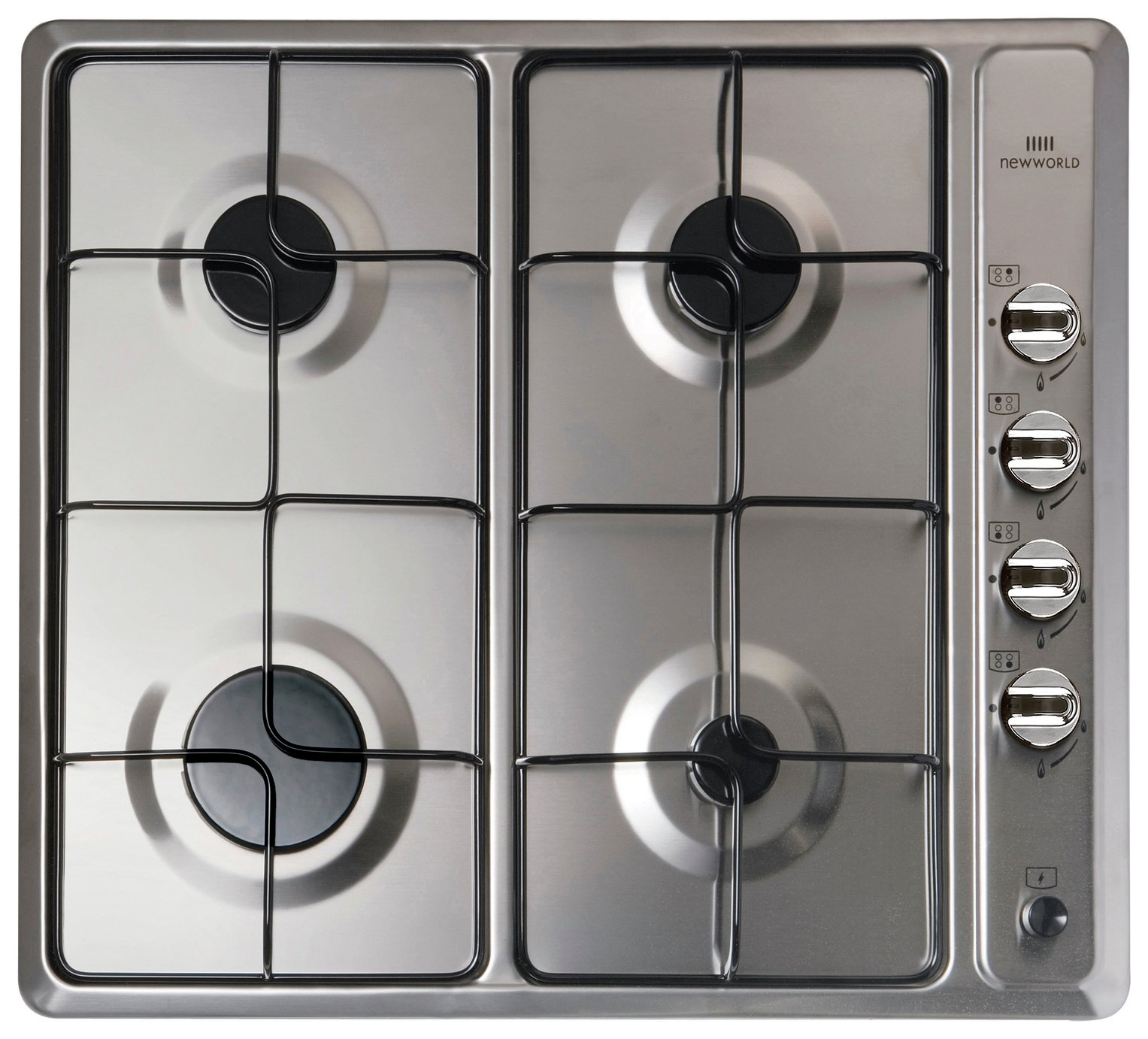 New World NWGHU601 Gas Hob - Stainless Steel