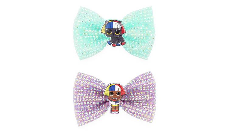LOL Surprise Blue and Pink Hair bow clips Set of 2