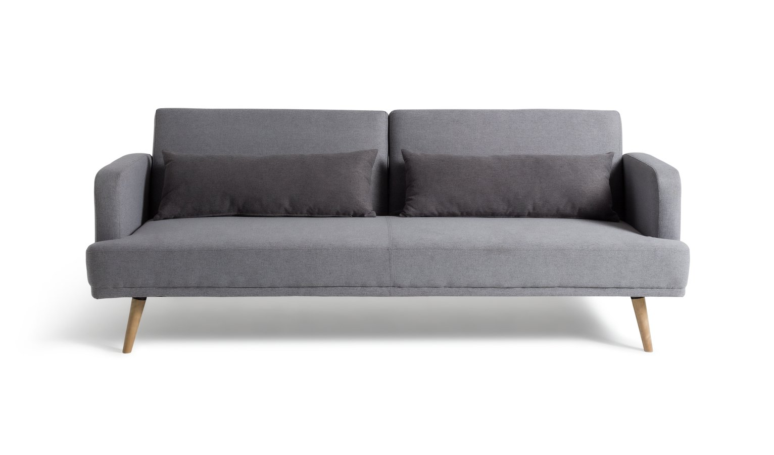 Habitat Andy 3 Seater Fabric Clic Clac Sofa Bed - Grey