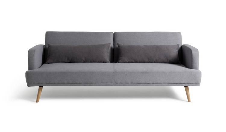 Habitat Andy 3 Seater Fabric Clic Clac Sofa Bed - Grey