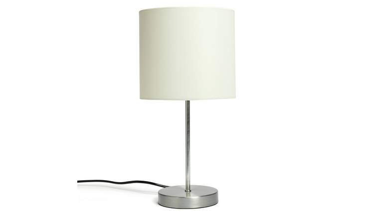 Habitat Satin Stick Table Lamp - Natural