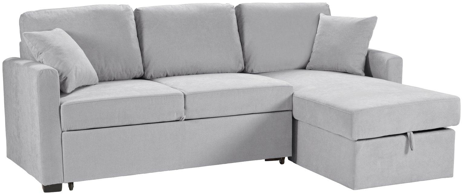 Argos Home Reagan Right Corner Fabric Sofa Bed - Grey