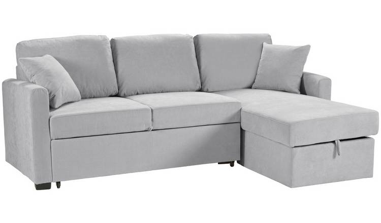 Habitat Reagan Right Corner Fabric Sofa Bed - Grey