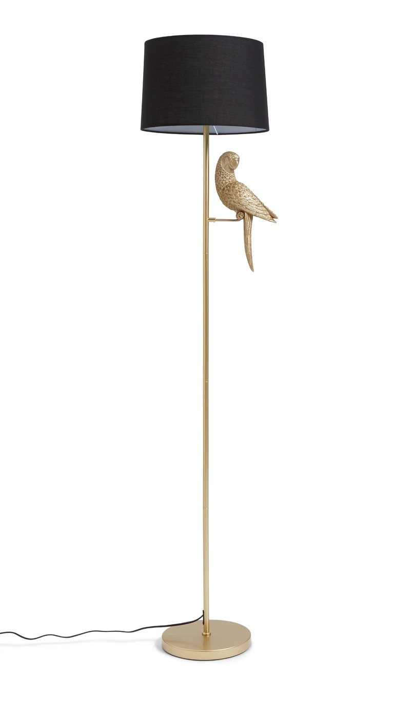 Argos Home Pax The Parrot Floor Lamp - Gold and Black