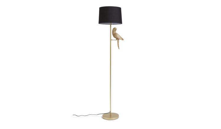 Habitat Pax The Parrot Floor Lamp - Gold and Black