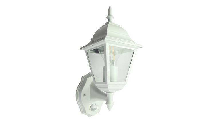 Coast Classic 4 Panel PIR Lantern - White