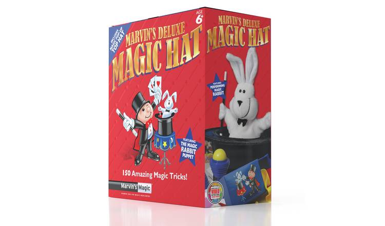 Marvin's Deluxe Magic Hat - with a Performing Rabbit Puppet