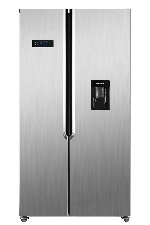 Bush MSBSWTDX20 American Fridge Freezer - Stainless Steel