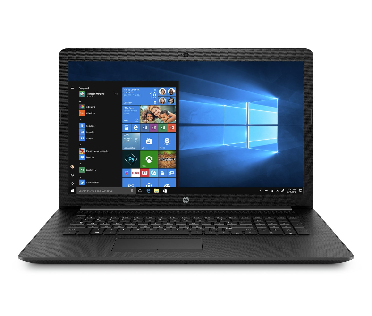 HP 17.3in Athlon Silver 4GB 1TB Laptop - Black