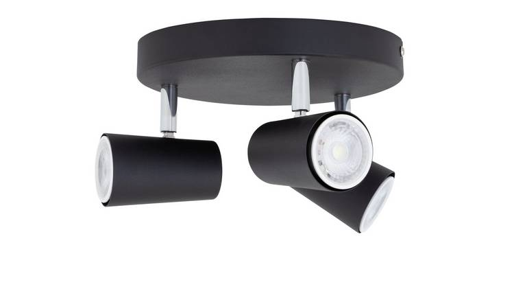 Argos Home 3 Light Spotlight Plate - Matt Black