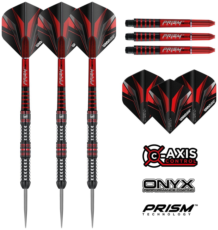 Winmau Zagato 90/% Tungsten darts with Prism shafts /& Alpha flights Onyx coated