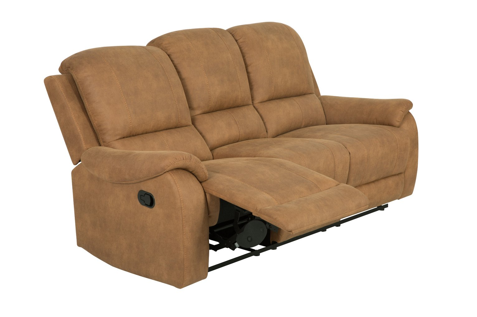 Argos Home Alfie 3 Seater Faux Leather Recliner Sofa - Brown
