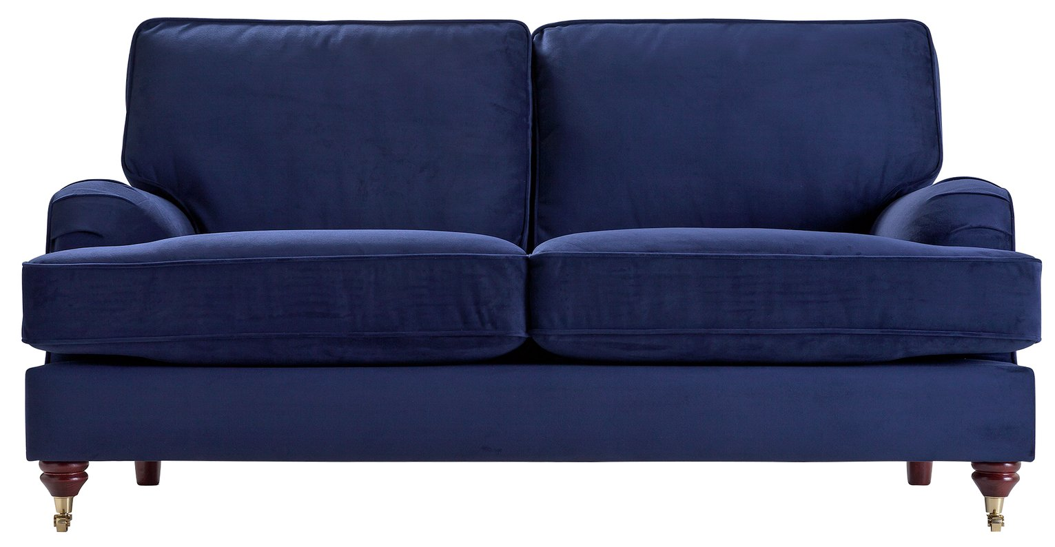 Image of Heart of House Abberton 3 Seater Sofa - Navy Velvet