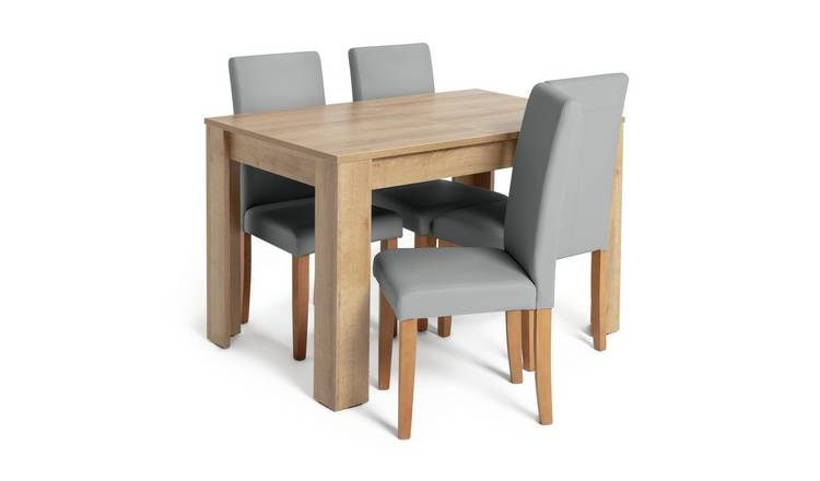 Brilliant Buy Argos Home Miami Extendable Dining Table 4 Chairs Grey Dining Table And Chair Sets Argos Download Free Architecture Designs Rallybritishbridgeorg