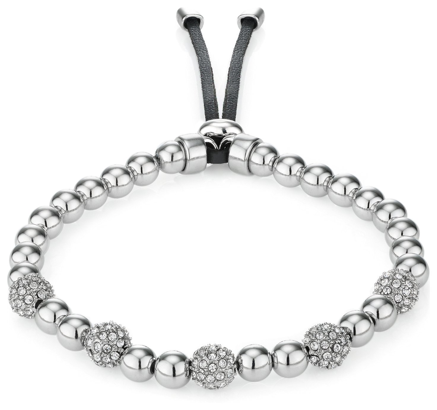 Buckley Silver Colour Pimlico Crystal Bead Bracelet