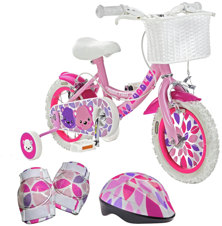 Pedal Pals Cuddles 12 inch Kids Bike, Helmet and Knee Pads