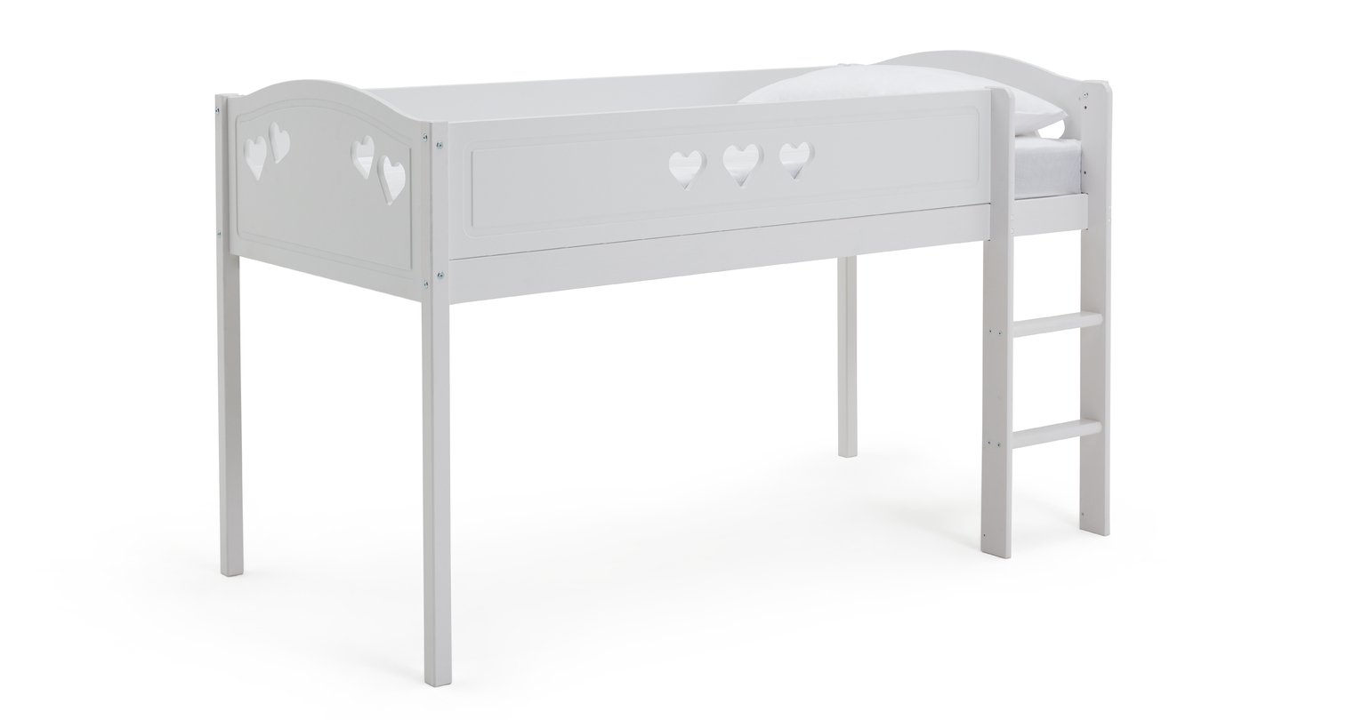 Argos Home Mia White Mid Sleeper & Kids Mattress