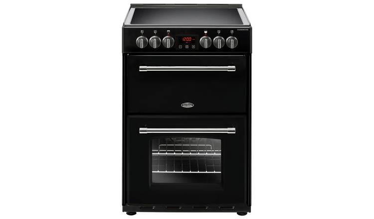 Buy Belling Farmhouse 60E 60cm Electric Range Cooker - Black | Freestanding  cookers | Argos