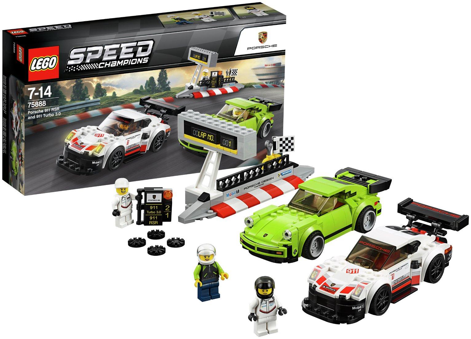 Image of LEGO Speed Champions Porsche 911 RSR & 911 TURBO 3.0 - 75888