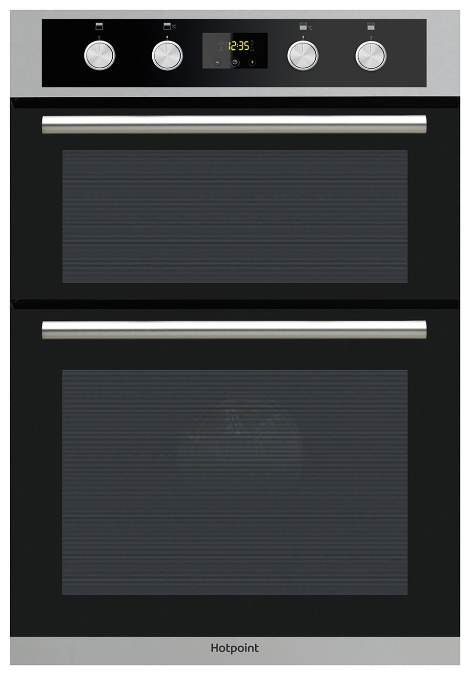 hotpoint dd2844cix built in electric double oven 409. Black Bedroom Furniture Sets. Home Design Ideas