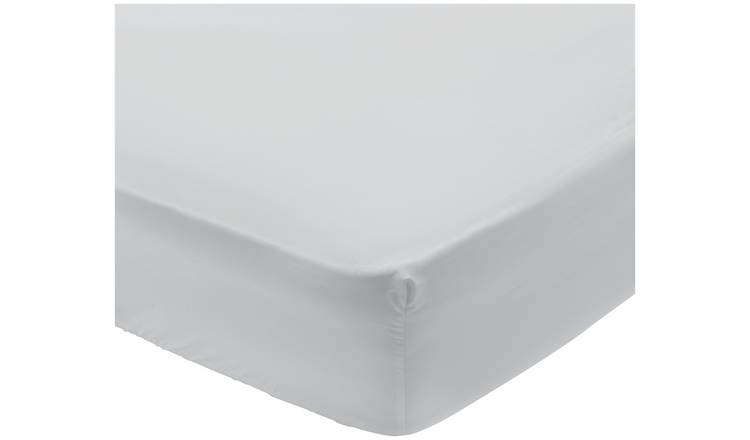 Buy Argos Home 400 Tc Grey Deep Fitted Sheet Kingsize Bed