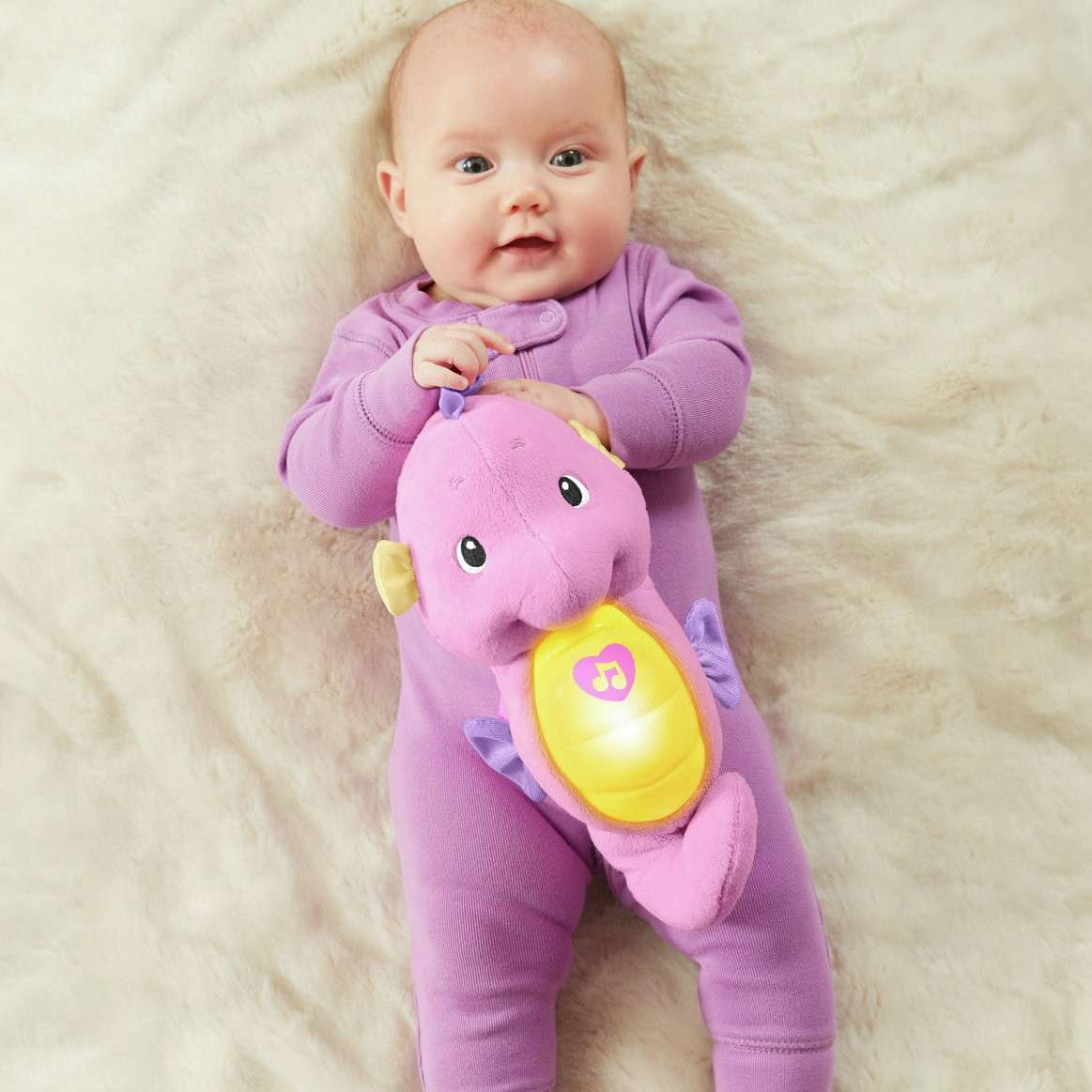 Fisher-Price Soothe & Glow Seahorse -Pink