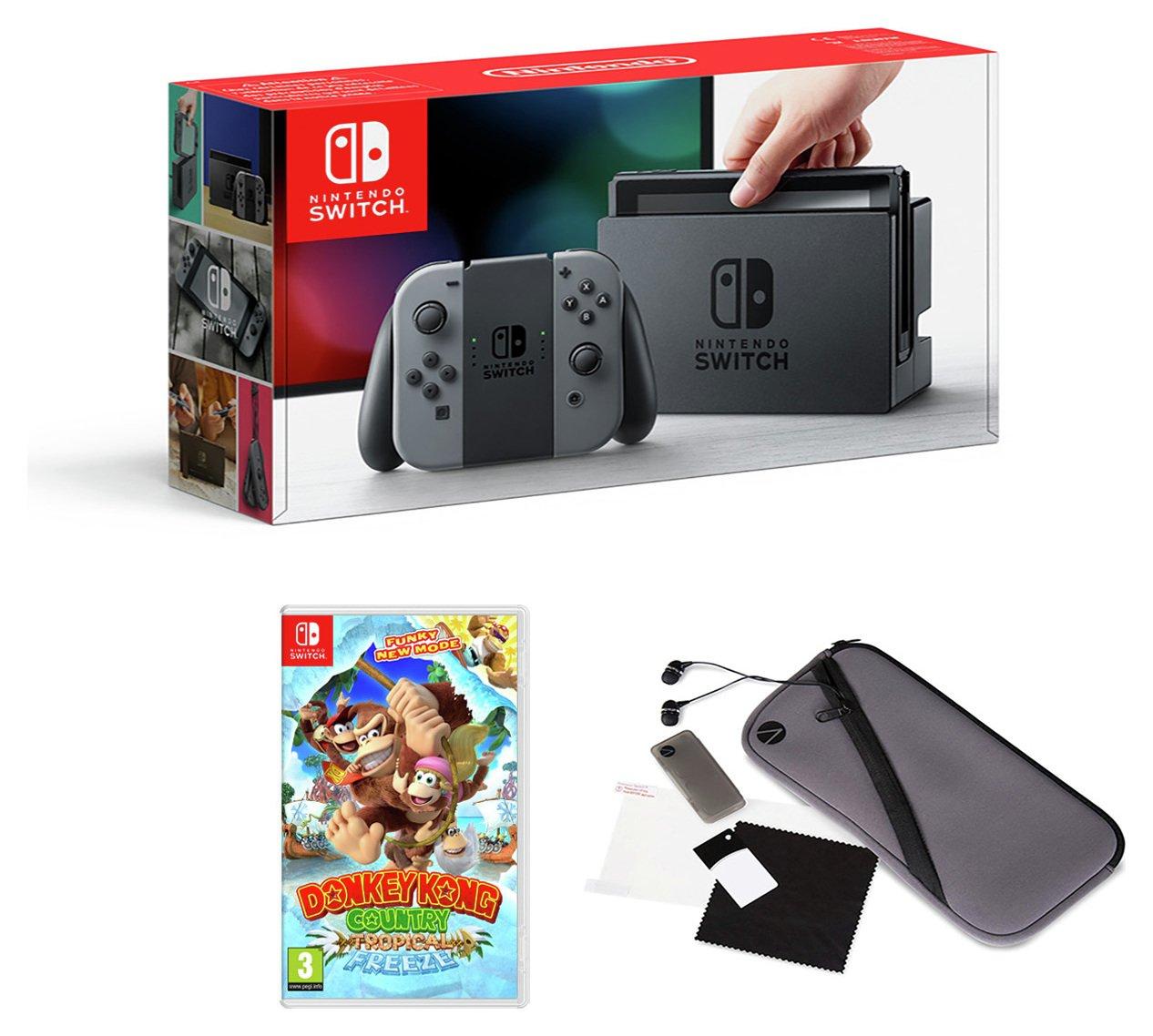 Image of Nintendo Switch Console Grey w/ Donkey Kong & Accessory Pack