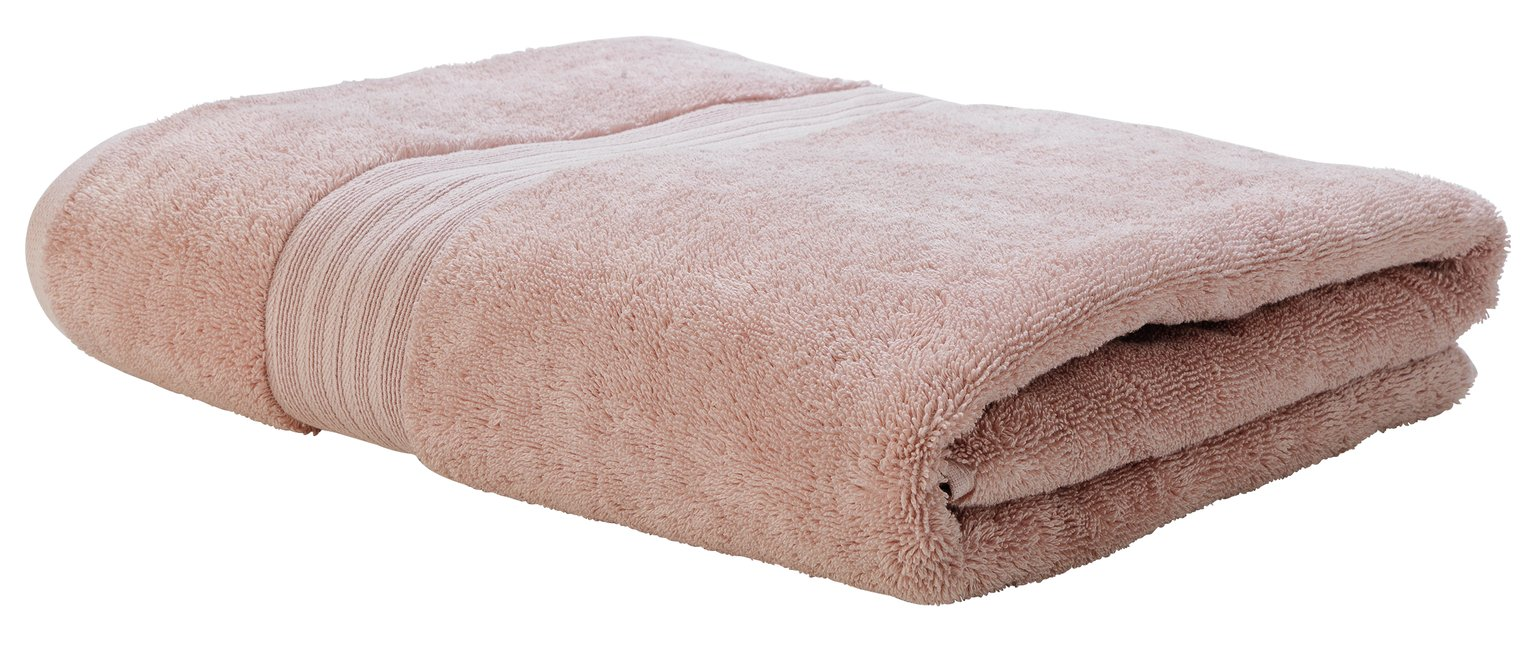 Argos Home Egyptian Cotton Bath Sheet - Blush