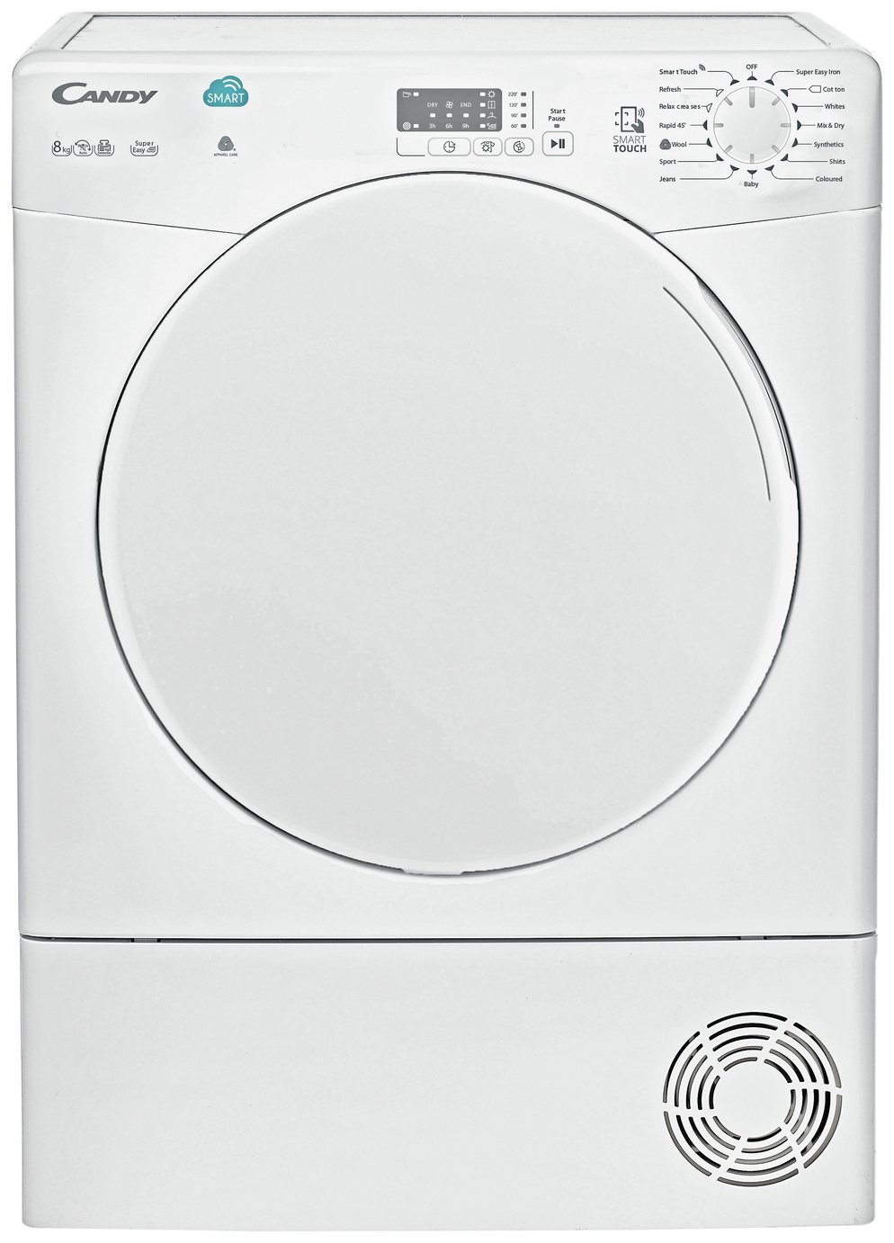 Candy CSC8LF 8KG Sensor Dry Condenser Tumble Dryer - White