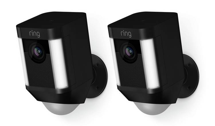 Ring Spotlight Battery Powered Camera - 2 Pack - Black