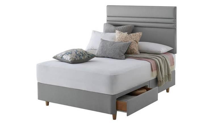 cheap for discount 3d428 097f4 Buy Silentnight Roma 2 Drawer Superking Divan & Headboard - Grey | Divan  beds | Argos