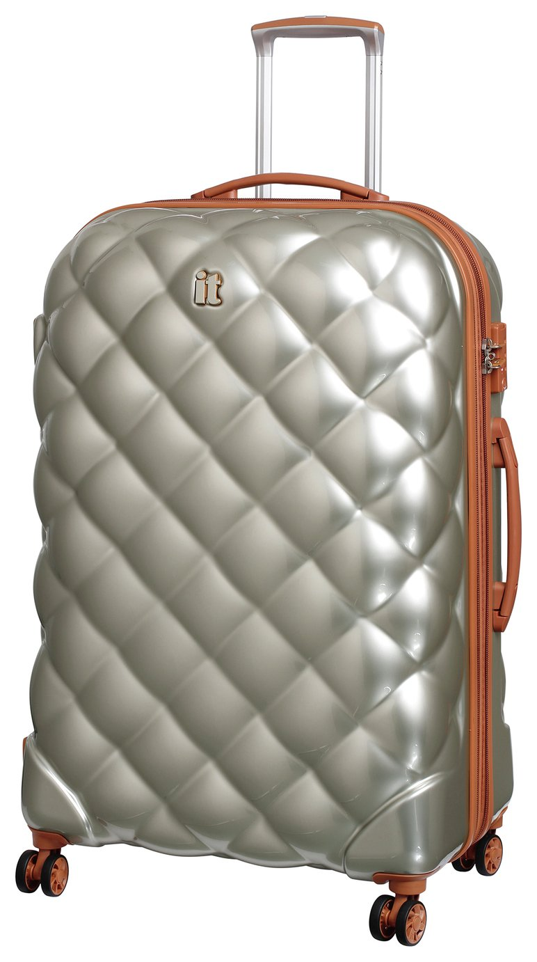 IT Luggage St Tropez Large 8 Wheel Suitcase - Champagne