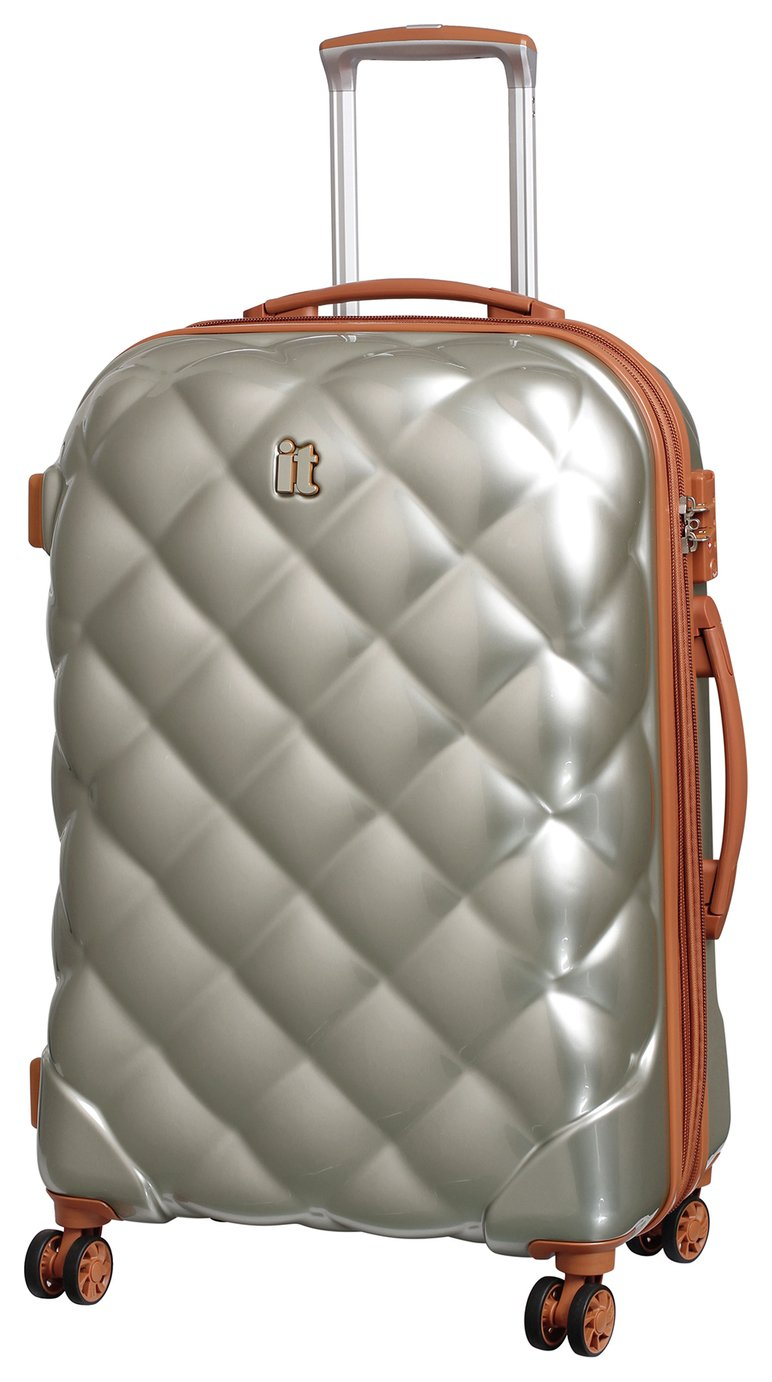 IT Luggage St Tropez Medium 8 Wheel Suitcase - Champagne