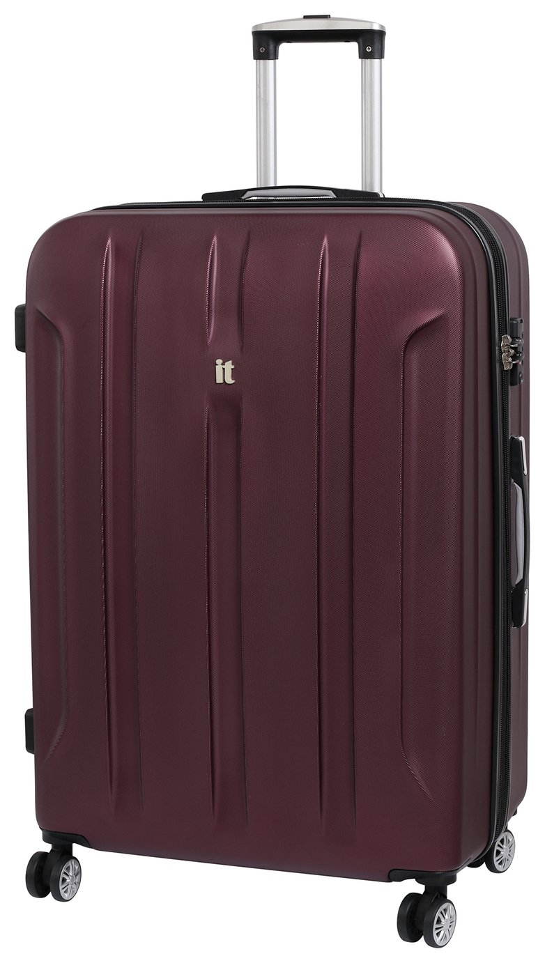 IT Luggage Proteus Large 8 Wheel Hard Suitcase - Dark Wine