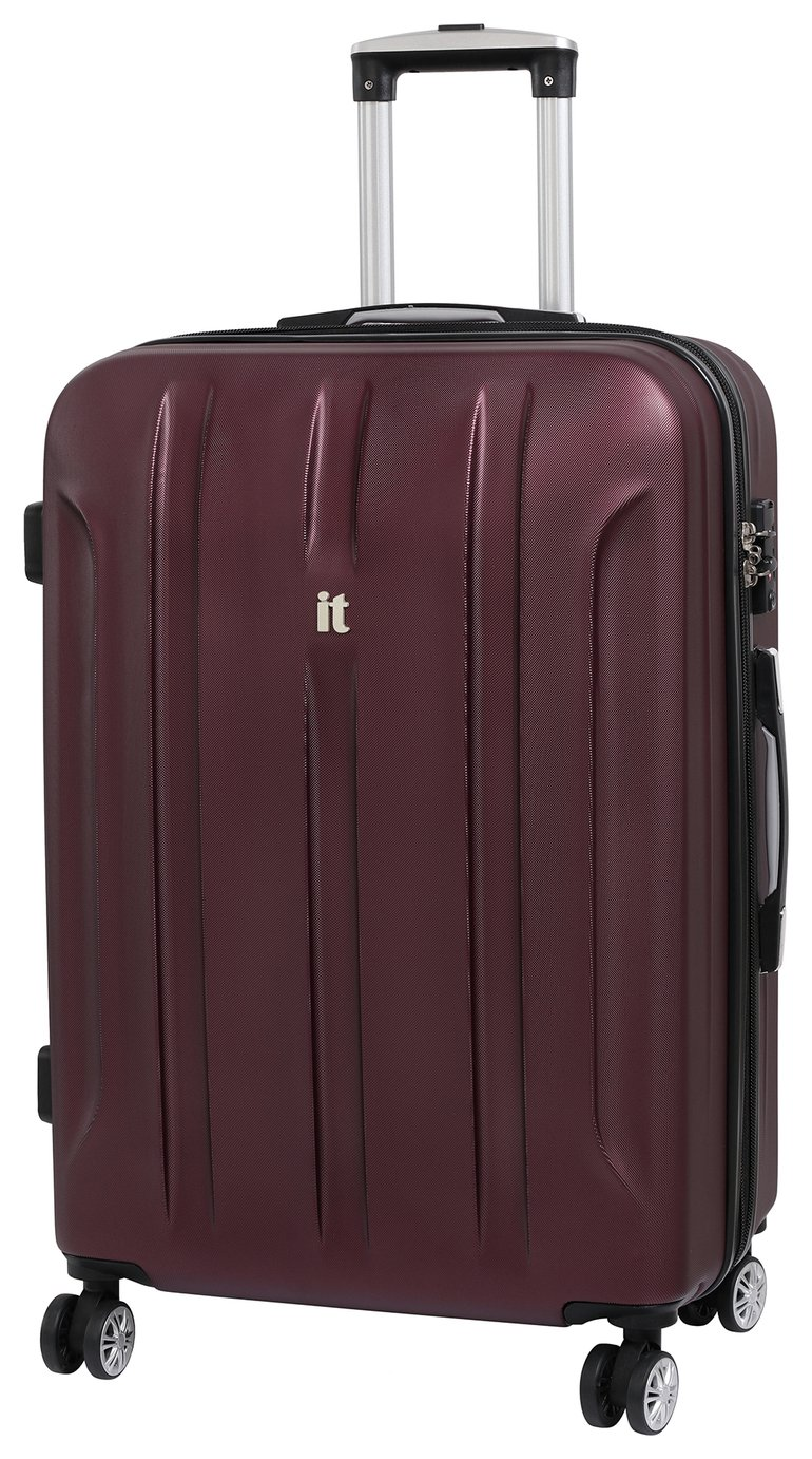 IT Luggage Proteus Medium 8 Wheel Hard Suitcase - Dark Wine