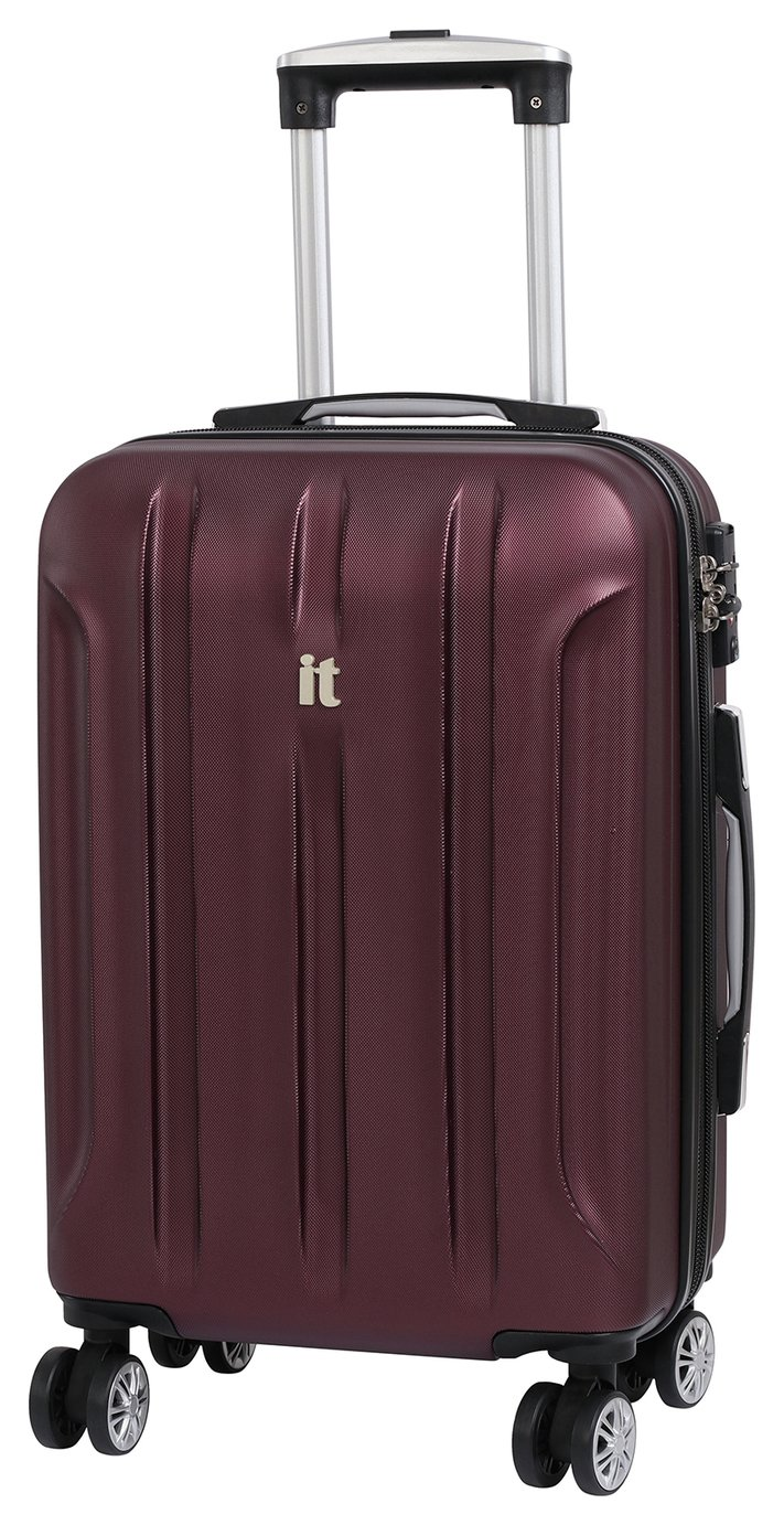IT Luggage Proteus Small 8 Wheel Hard Suitcase - Dark Wine