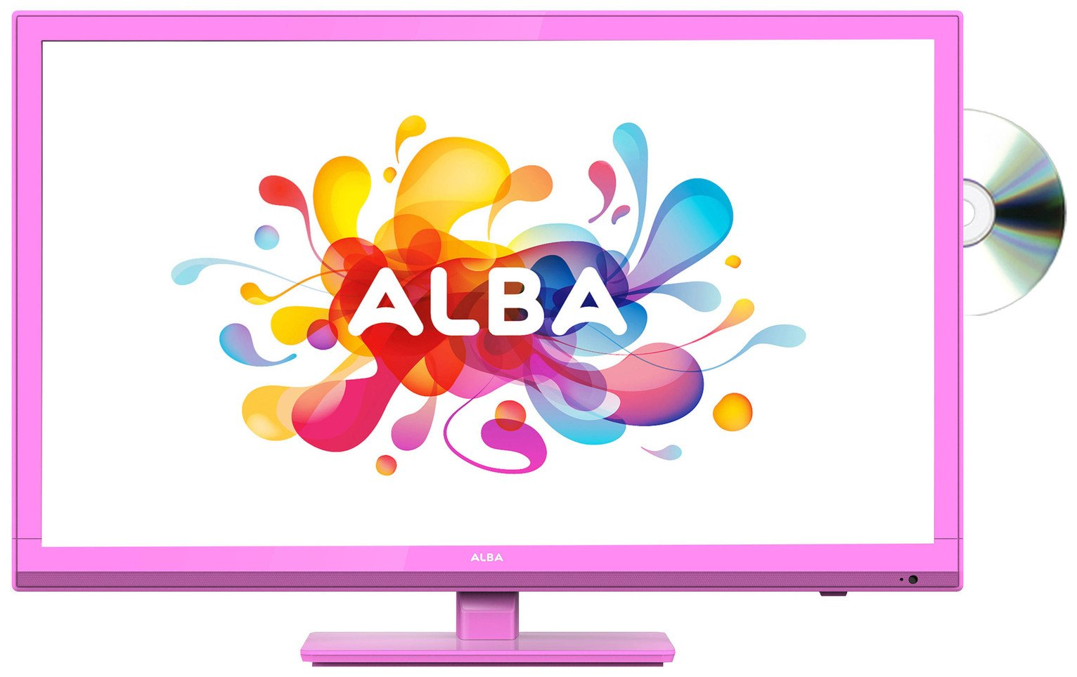 Image of Alba 24 Inch HD Ready TV/ DVD Combi - Pink