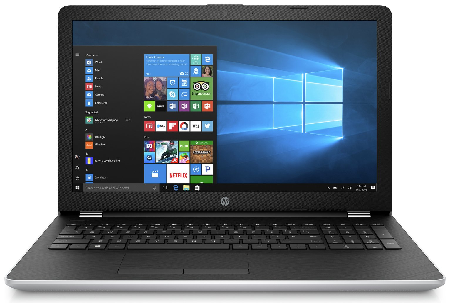 HP 15.6 Inch Intel i5 8GB 1TB Laptop - Silver