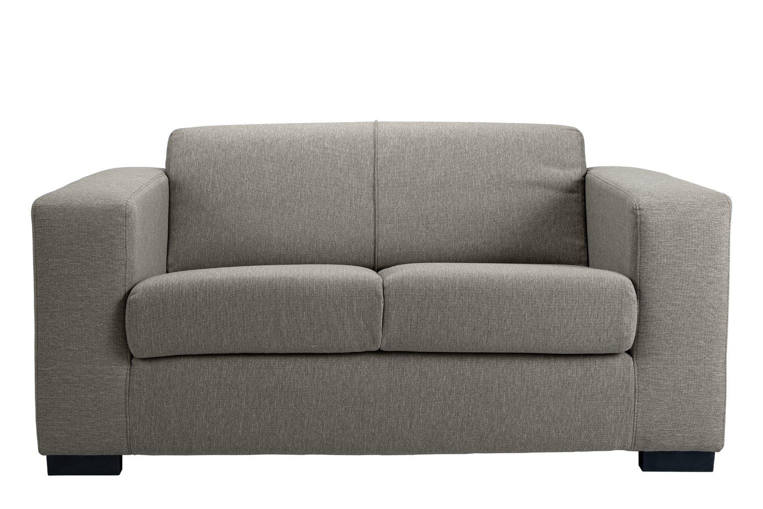 Habitat Ava Compact 2 Seater Fabric Sofa - Light Grey