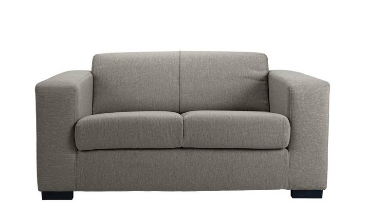 Habitat Ava Compact 2 Seater Fabric Sofa - Light Grey
