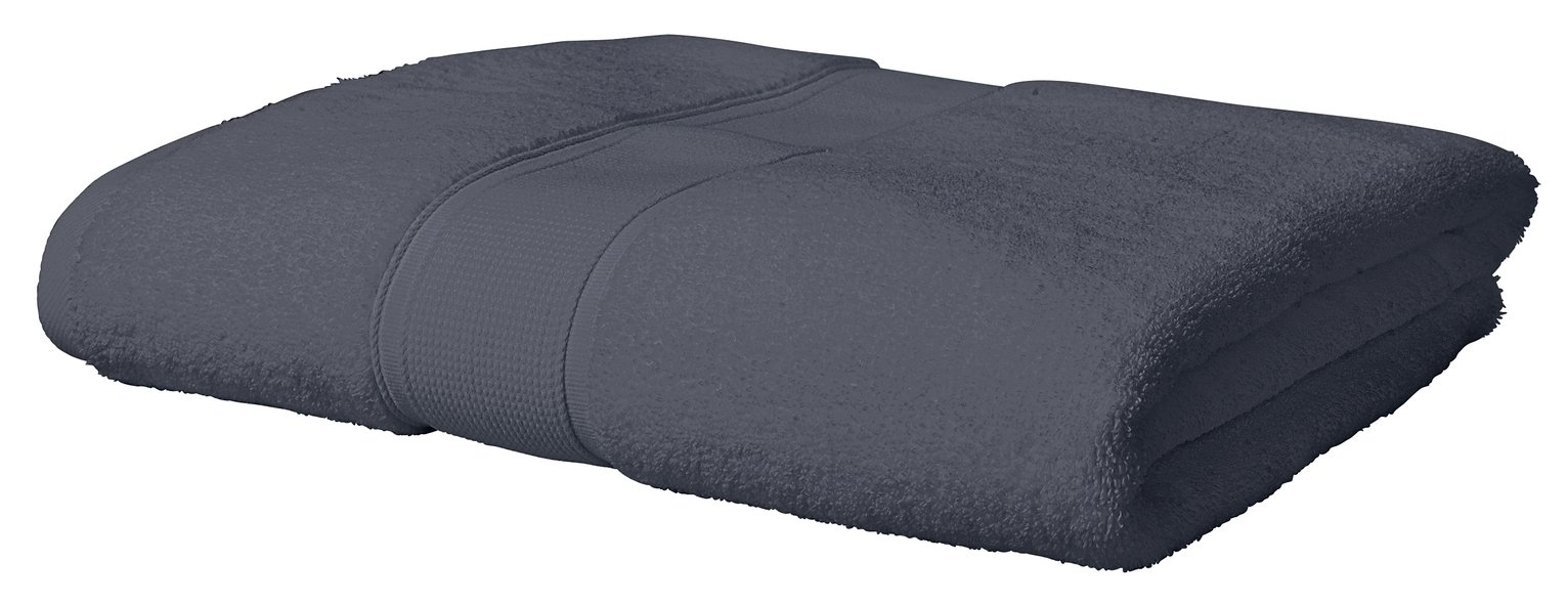 Argos Home Super Soft Bath Sheet - Dark Grey