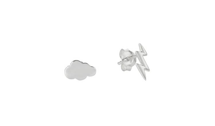 Revere Sterling Silver Cloud and Thunder Stud Earrings
