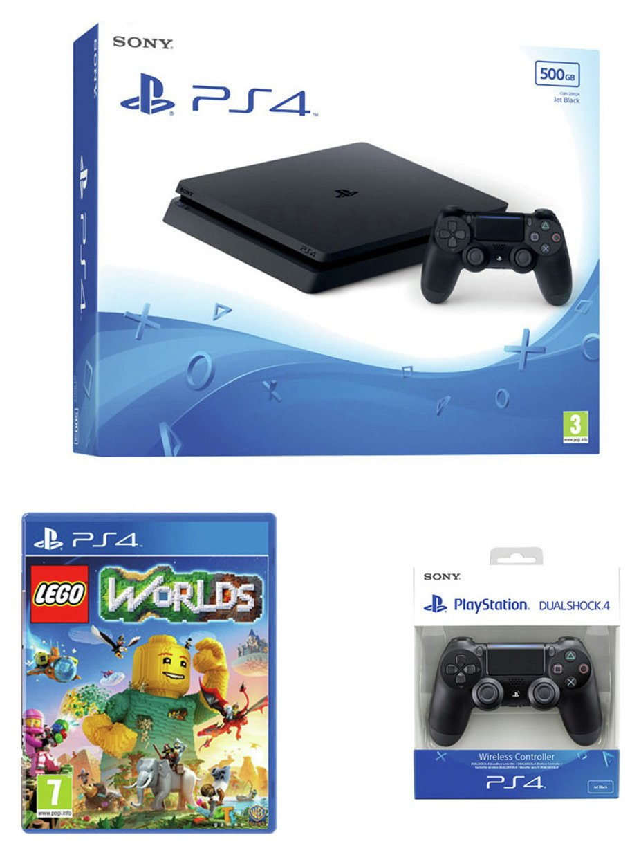 Image of PS4 500GB Console with LEGO: Worlds Bundle