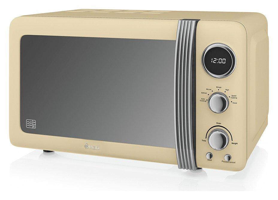Swan 800W Standard Microwave SM22030CN - Cream