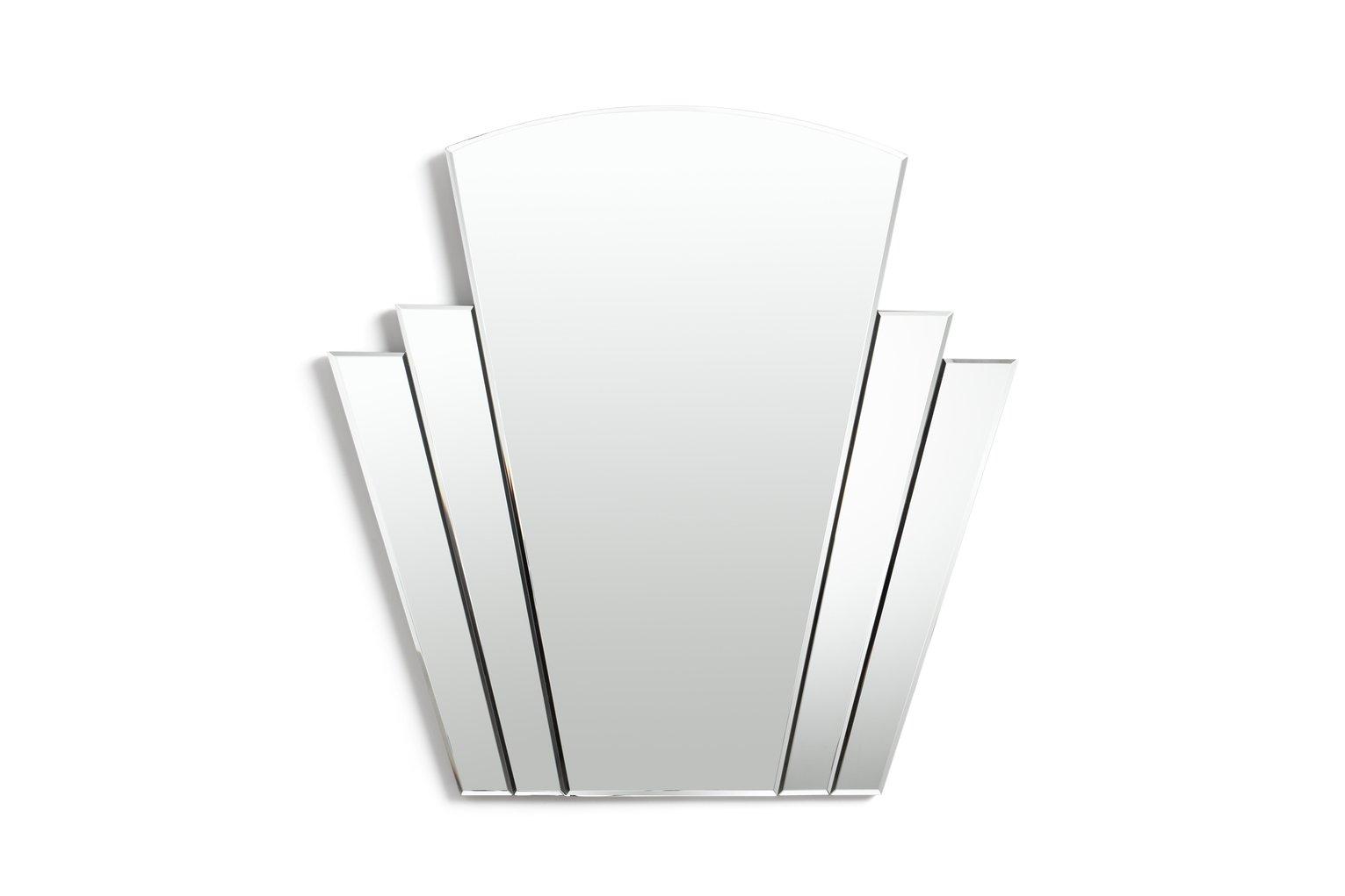 Argos Home Olivia Art Deco Wall Mirror - Silver