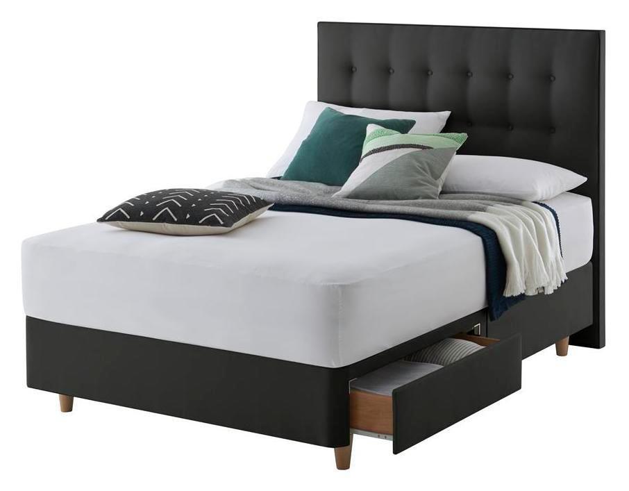 Silentnight Alaro Ebony Divan Bed - Superking