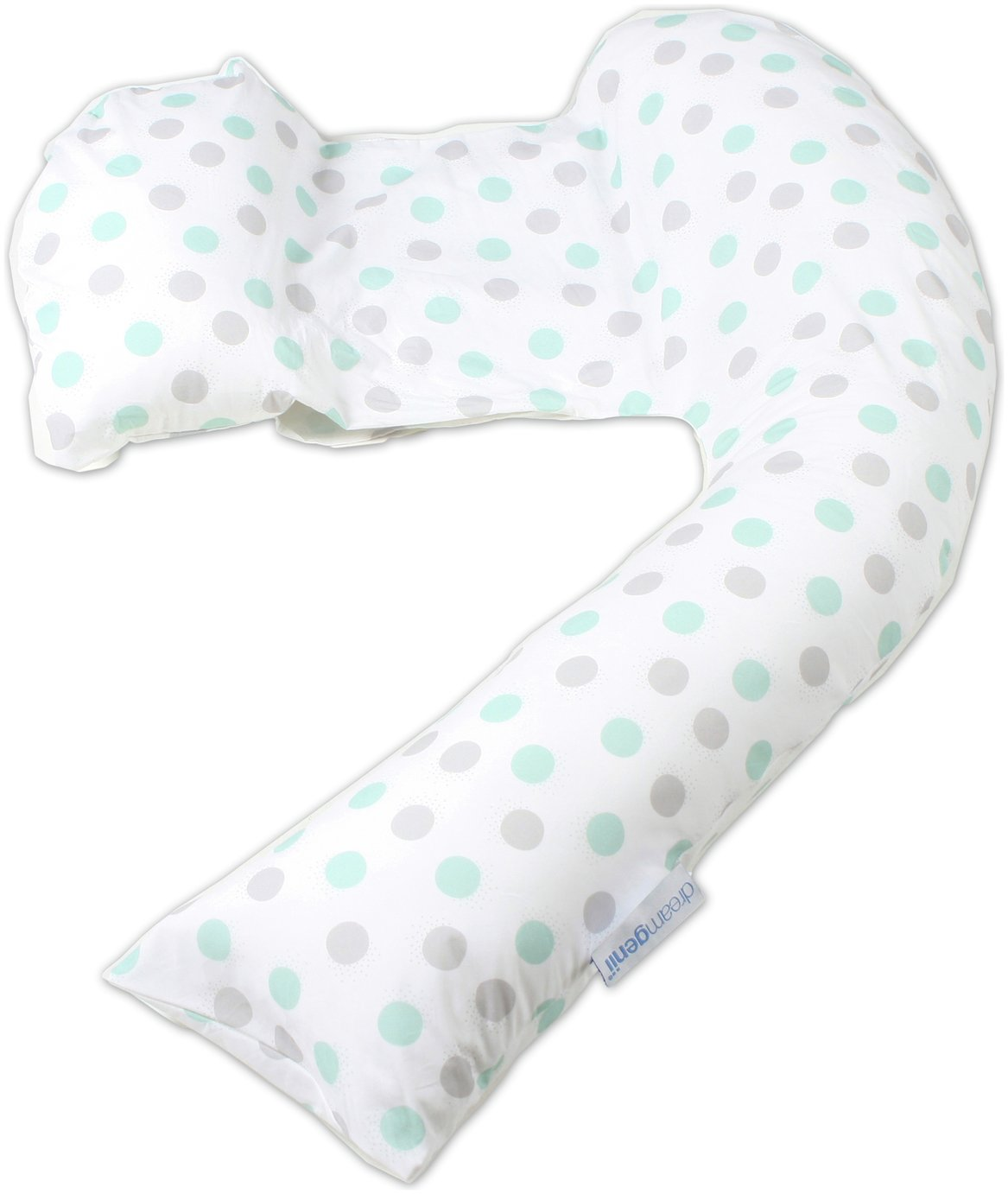 Dreamgenii Pregnancy Pillow - Grey and Aqua
