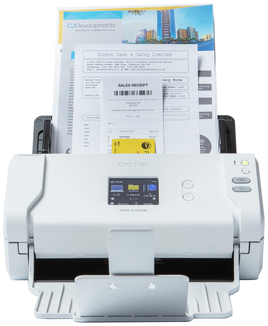 Image of Brother ADS-2700W Wireless Scanner