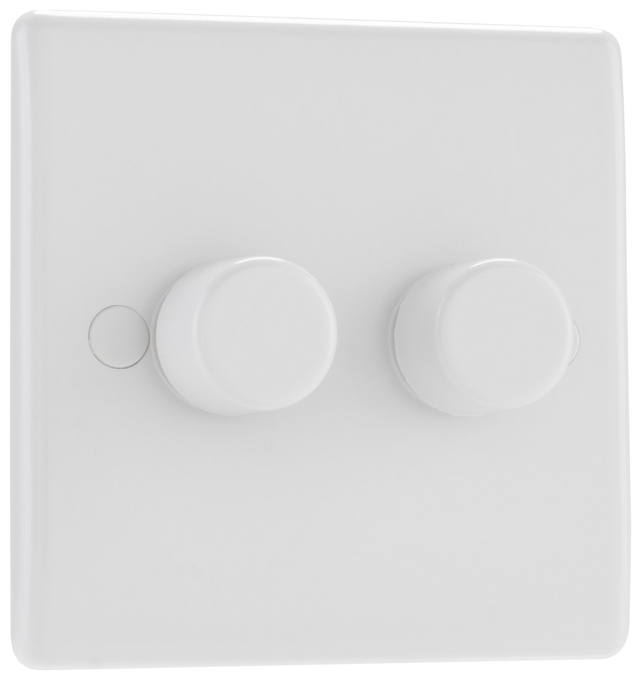 BG 2 Gang 2 Way Dimmer Switch - White