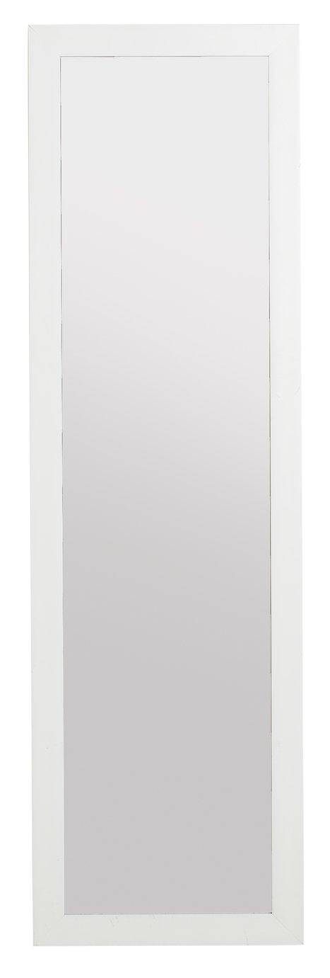 Argos Home Over the Door Mirror - White